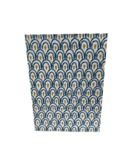 Caixa Livro em azul e amarelo