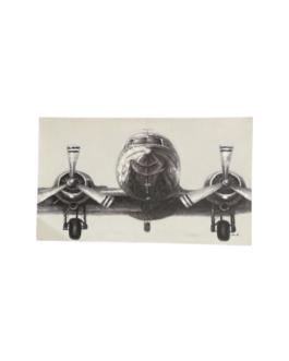 Quadro Avião Preto e Branco