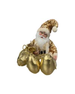 Boneco Papai Noel De Corda Sentado A