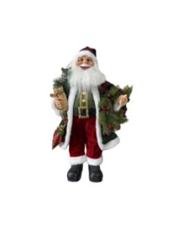 Boneco Papai Noel com Guirlanda, pendente de natal e presente