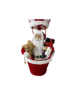 Boneco Papai Noel no Balão com urso e presente