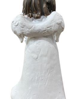 Anjo Menina segurando ursinho