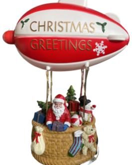 Cenário Papai Noel no Balão c/ mensagem de Merry Christmas na Hélice