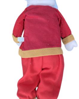Boneco Papai Noel em Vermelho segurando presente
