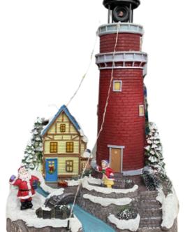 Cenário Farol com Papai Noel e Casa