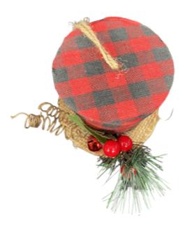 Enfeite de Cartola de Natal com guizo e azevinho