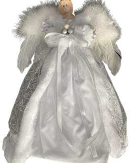Anjo com Asas Brancas, vestes em branco e brilho