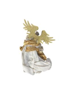 Anjo para Pendurar em dourado e natural