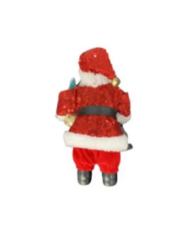 Papai Noel para Pendurar com Lanterna e pinheiro