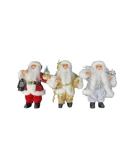 Papai Noel para Pendurar em vermelho, prata e dourado
