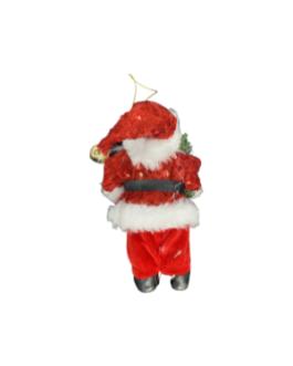 Papai Noel para Pendurar Bengala de doce e folhagem
