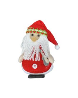 Papai Noel, urso e boneco de neve com pá, para pendurar