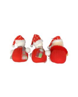 Urso, boneco de neve e Papai Noel para pendurar com cachecol e gorro