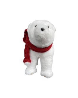 Urso Branco com cachecol vermelho