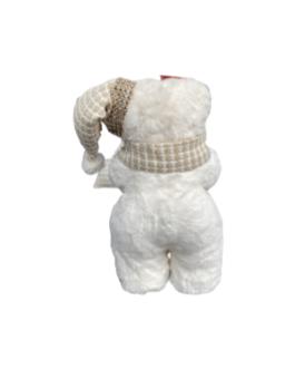 Urso com Gorro e Cachecol com detalhes brilhantes
