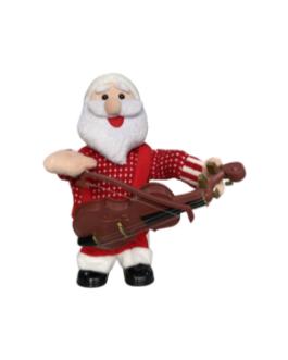 Boneco Papai Noel tocando violino