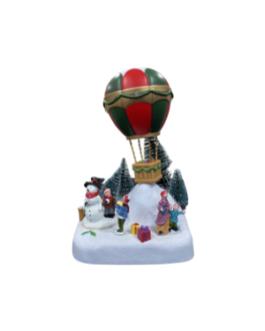Cenário Balão com Boneco de Neve e Presentes