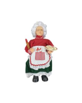 Mamãe Noel Cozinheira com Avental e rolo de pão