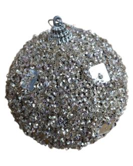 Bola de Natal Champagne com lantejoulas quadradas