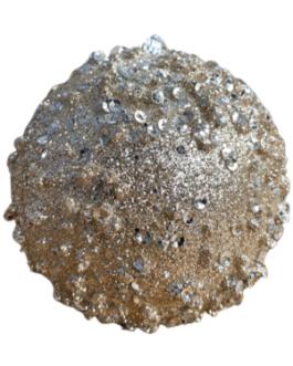 Bola de Natal Champagne com Gliter e Lantejoula