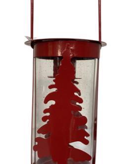 Lanterna com pinheiro vermelha